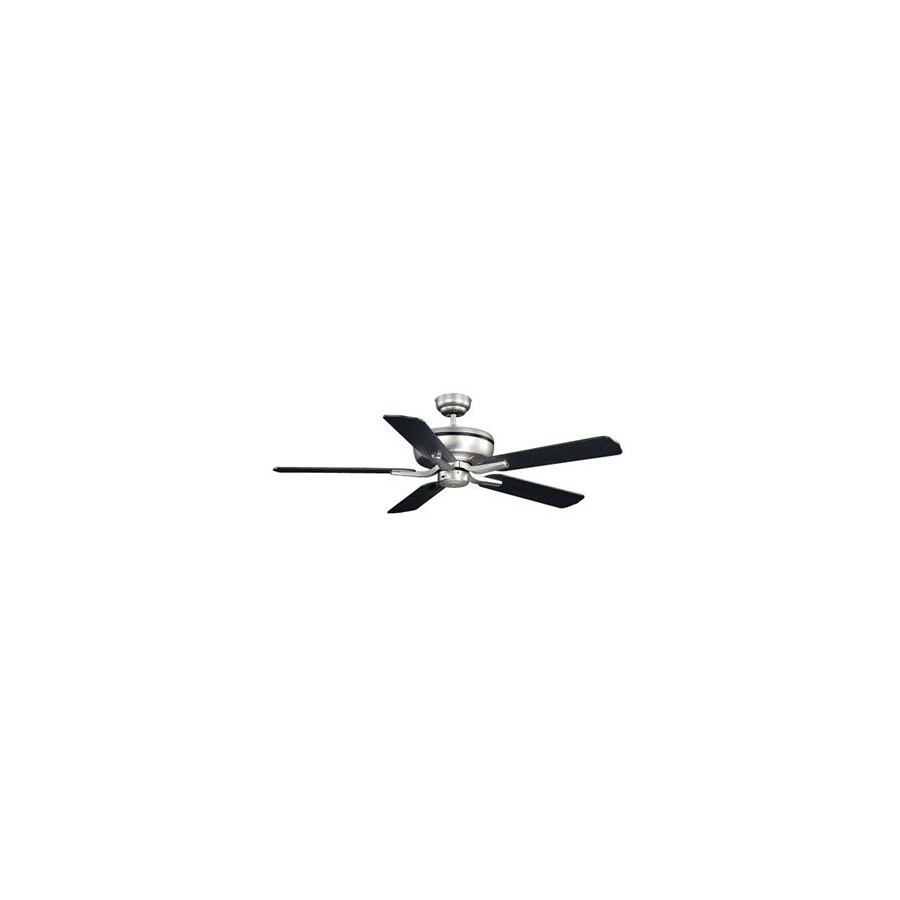 Cascadia Lighting 52-in Plata Brushed Nickel Ceiling Fan