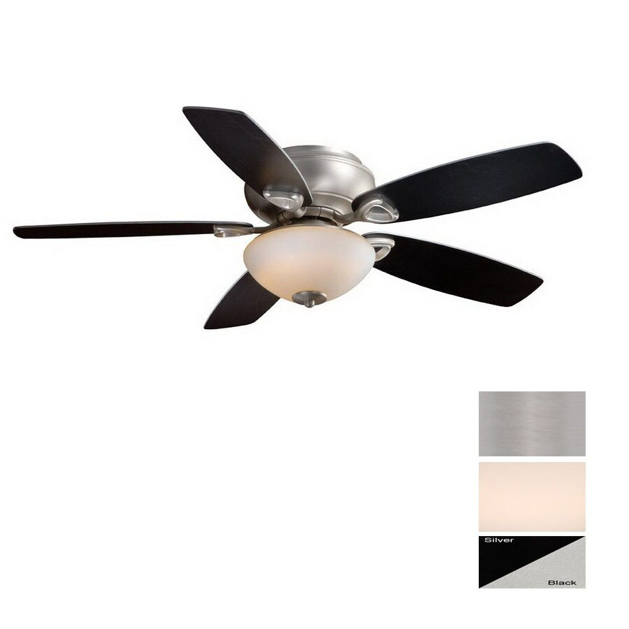 Cascadia Lighting 52-in Montreux Brushed Nickel Ceiling Fan with Light Kit