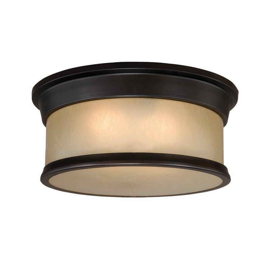 Cascadia Lighting Carlisle 14-in W Noble Bronze Ceiling Flush Mount Light