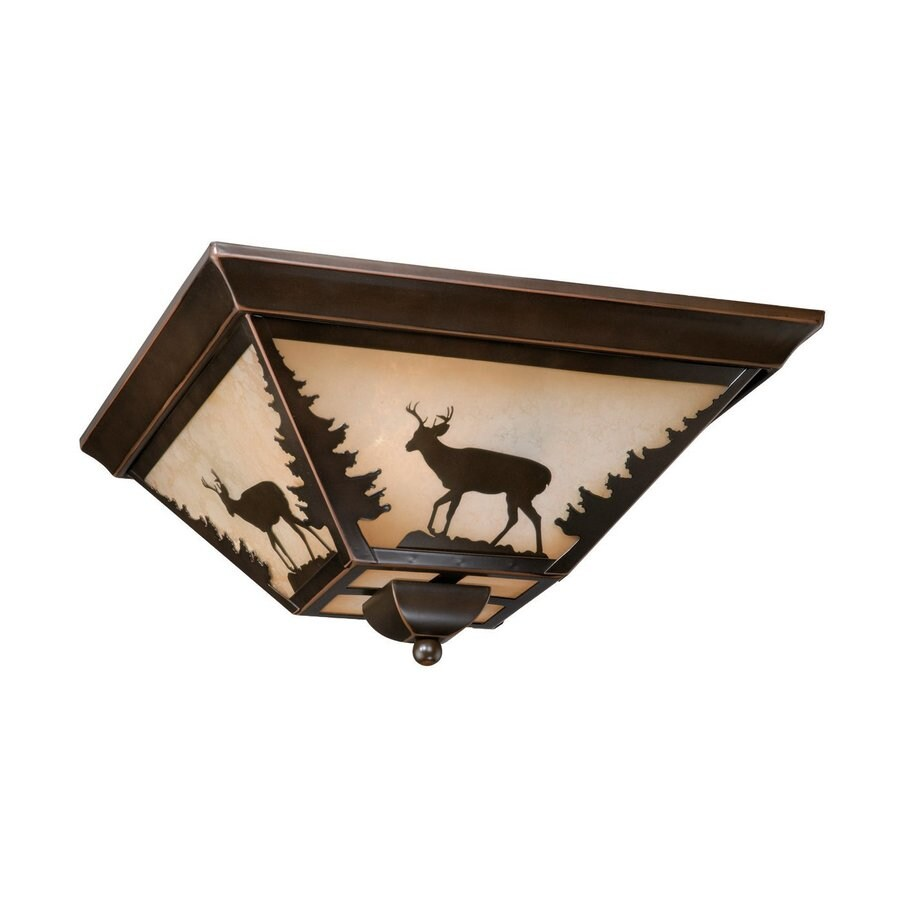 Cascadia Lighting Bryce 14-in W Burnished Bronze Ceiling Flush Mount Light