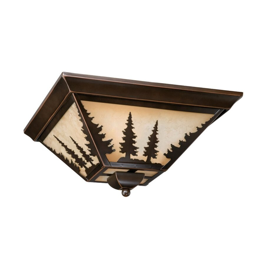 Cascadia Lighting Yosemite 14-in W Burnished Bronze Ceiling Flush Mount Light