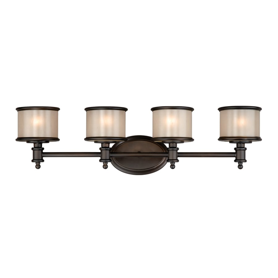 Shop cascadia lighting 4 light carlisle noble bronze for 4 light bathroom fixture