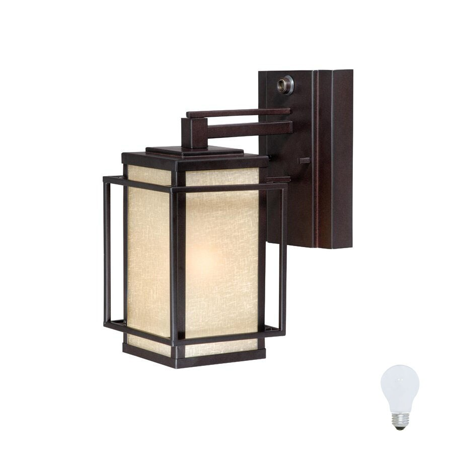 Cascadia Lighting Robie 11-in Espresso Bronze Solar Outdoor Wall Light