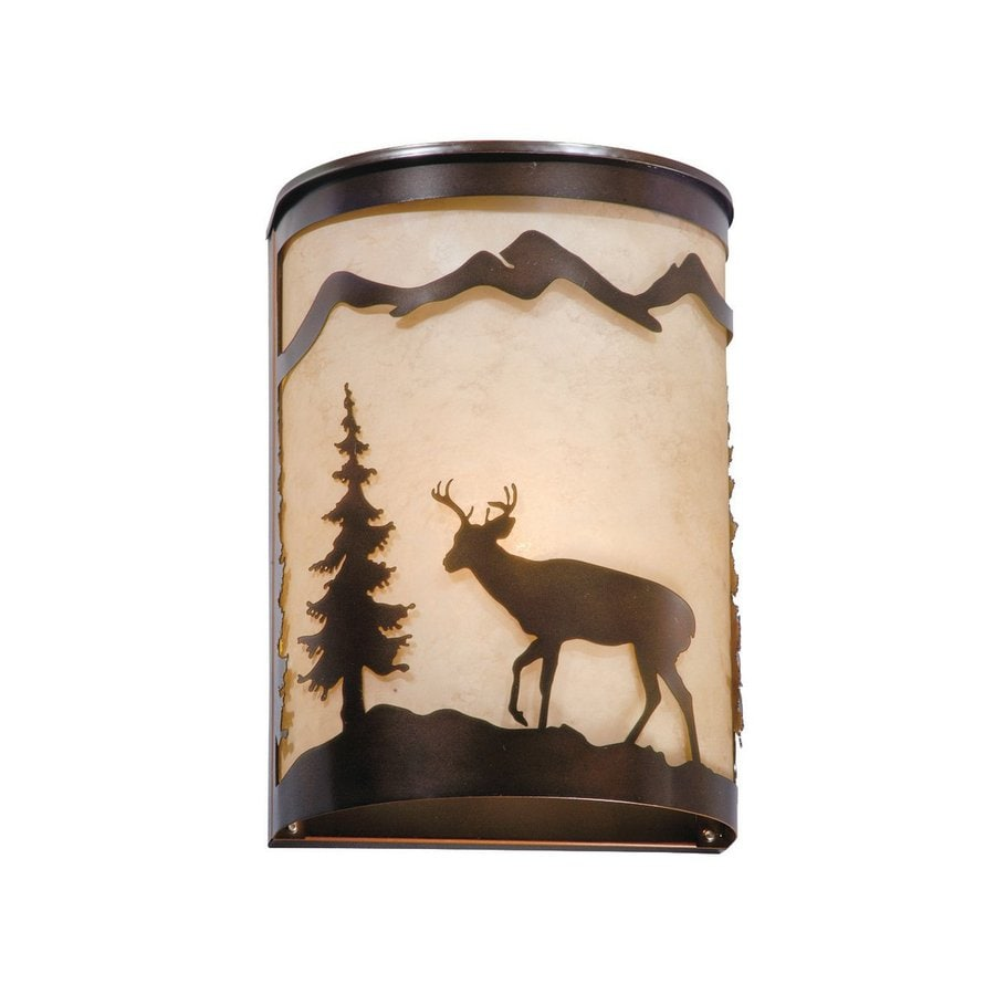 Cascadia Lighting Bryce 8-in W 1-Light Burnished Bronze Pocket Hardwired Wall Sconce