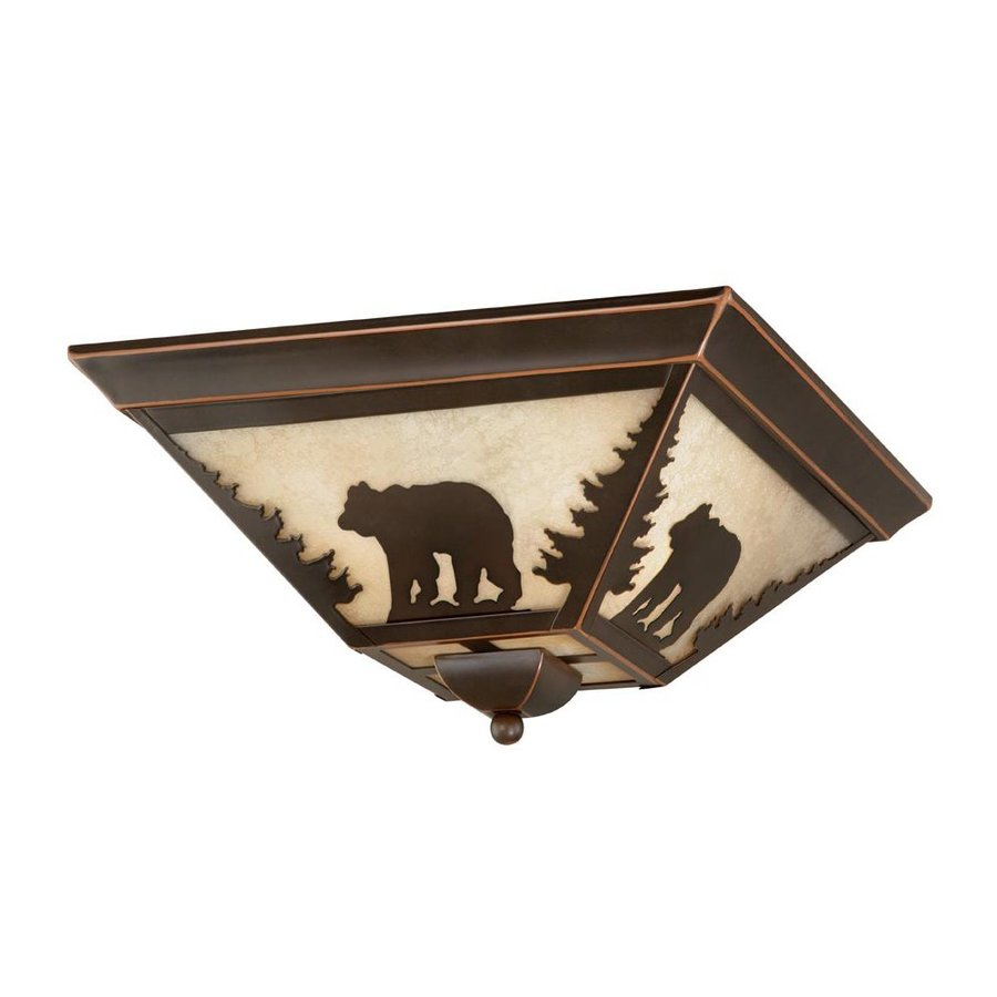 Cascadia Lighting Bozeman 14-in W Burnished Bronze Ceiling Flush Mount Light
