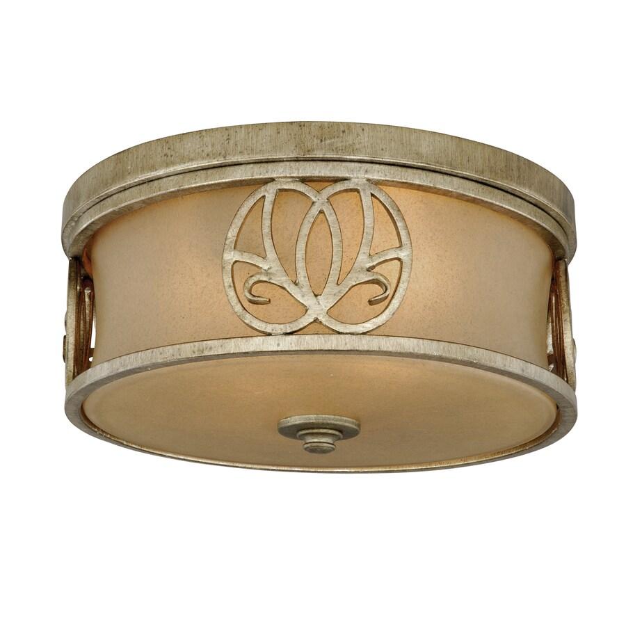 Cascadia Lighting Newbury 13-in W Venetian Brass Ceiling Flush Mount Light