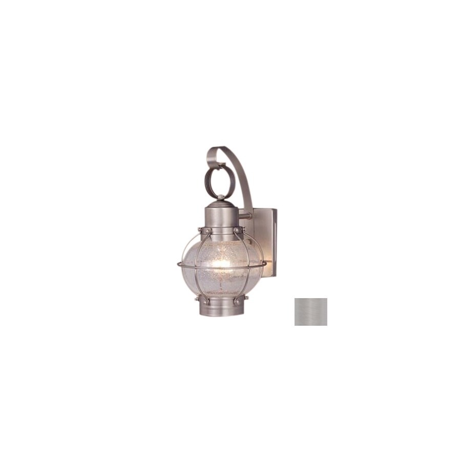 Cascadia Lighting Nautical 12-in Brushed Nickel Outdoor Wall Light