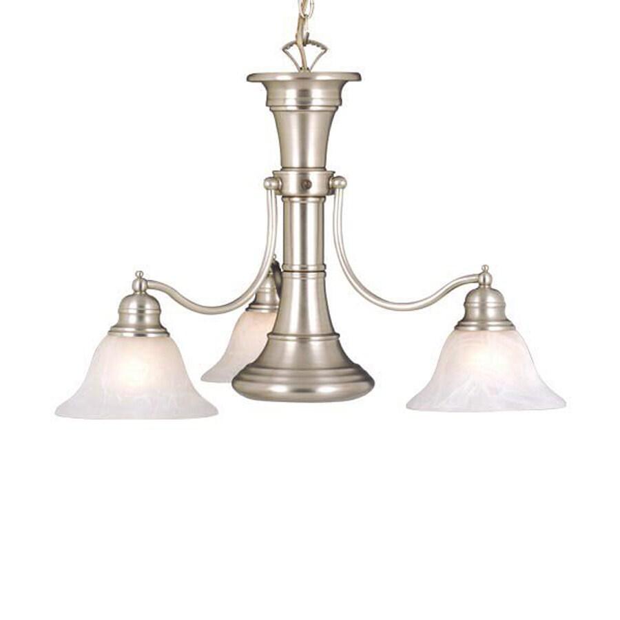 Cascadia Lighting Standford 26-in 4-Light Brushed Nickel Alabaster Glass Shaded Chandelier