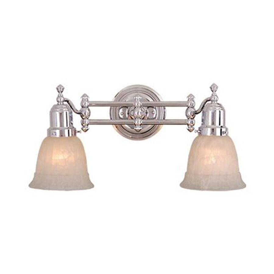 Cascadia Lighting 2-Light Chrome Bathroom Vanity Light