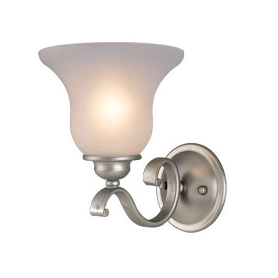 Cascadia Lighting Monrovia 7-in W 1-Light Brushed Nickel Arm Hardwired Wall Sconce
