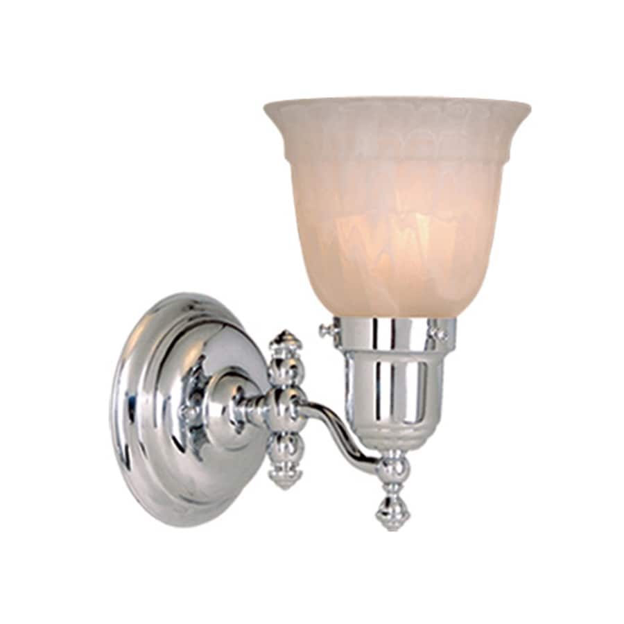 Cascadia Lighting Swing Arm 5-in W 1-Light Chrome Arm Hardwired Wall Sconce