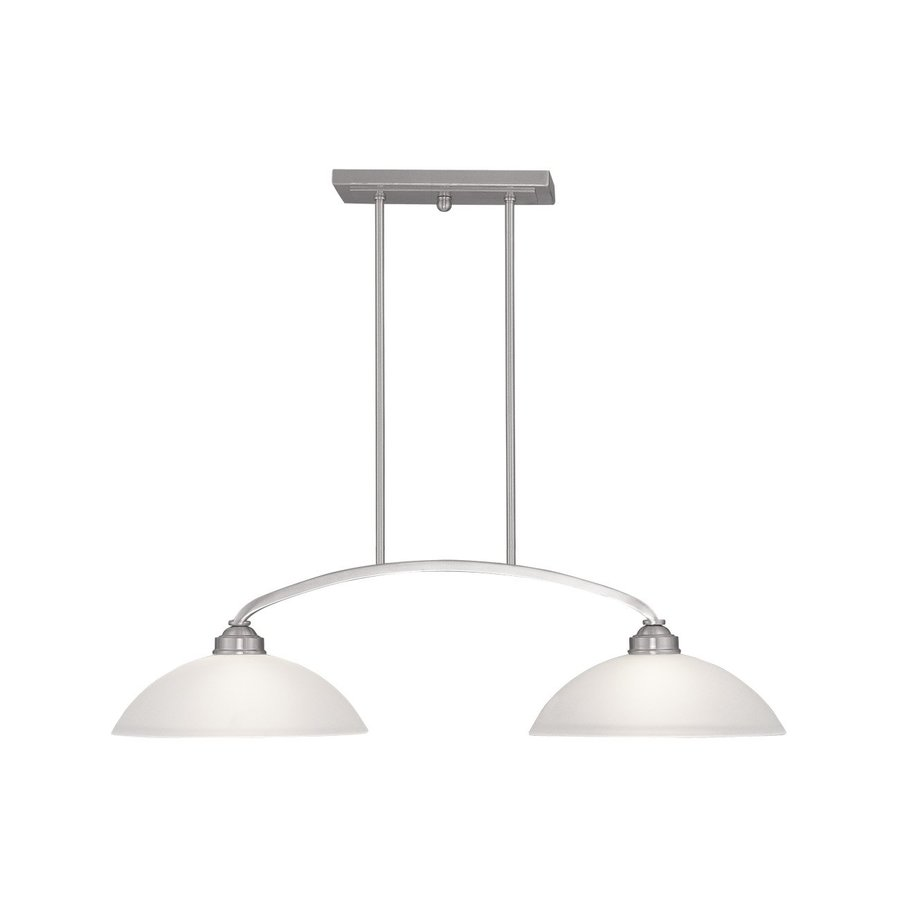 lighting somerset 13 in w 2 light brushed nickel kitchen island light