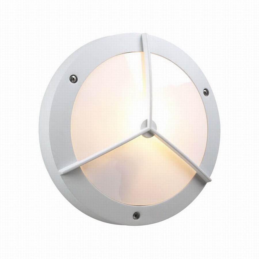 PLC Lighting Cassandra 11-in White Outdoor Flush Mount Light