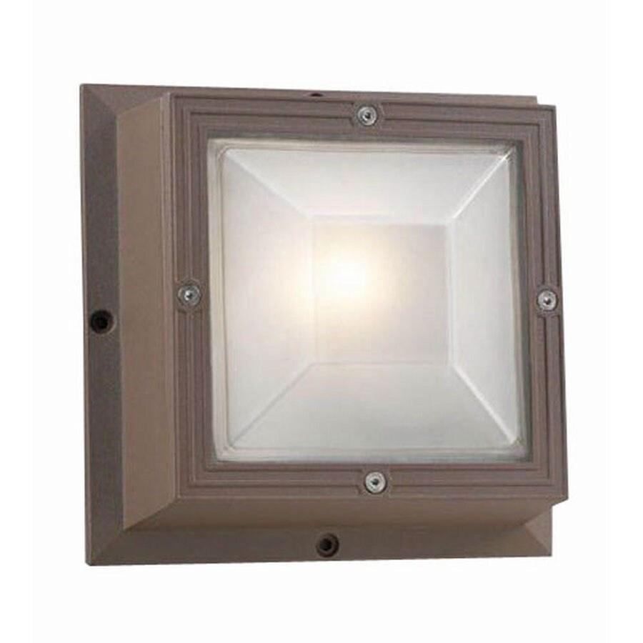 PLC Lighting Ludlow 7-1/2-in Bronze Outdoor Flush Mount Light