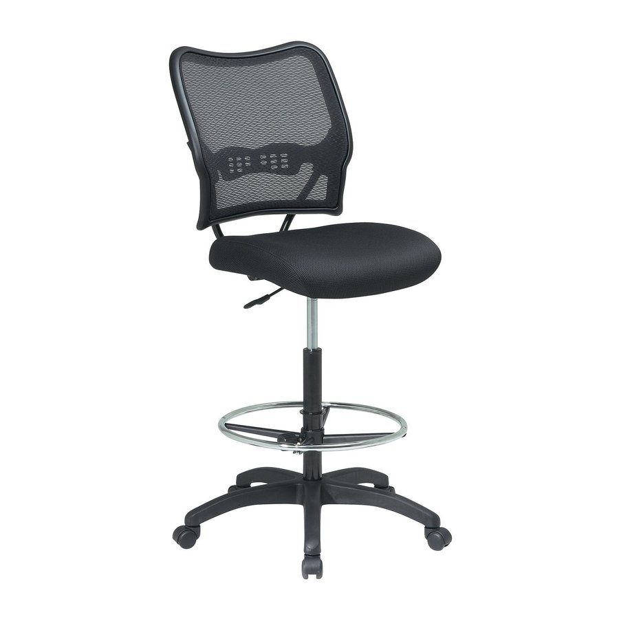 Office Star One Space Black Mesh Drafting Office Chair