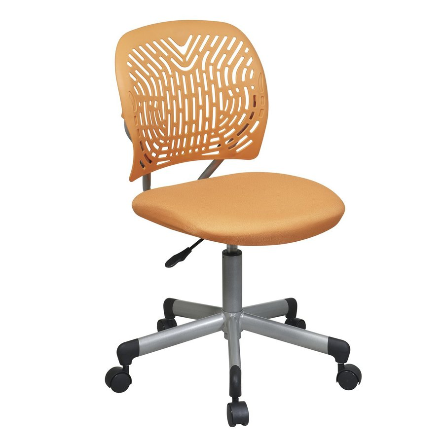 Office Star One OSP Designs Orange/Silver Mesh Task Office Chair