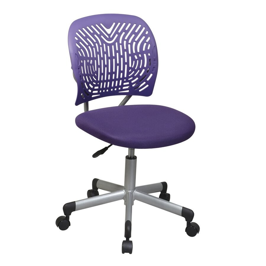 shop office star one osp designs purple silver mesh task office chair