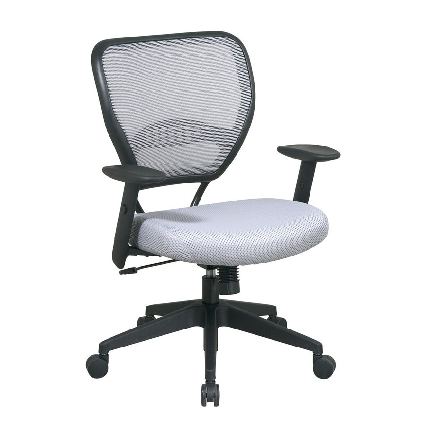 Office Star One Space Grey/Black Mesh Manager Office Chair