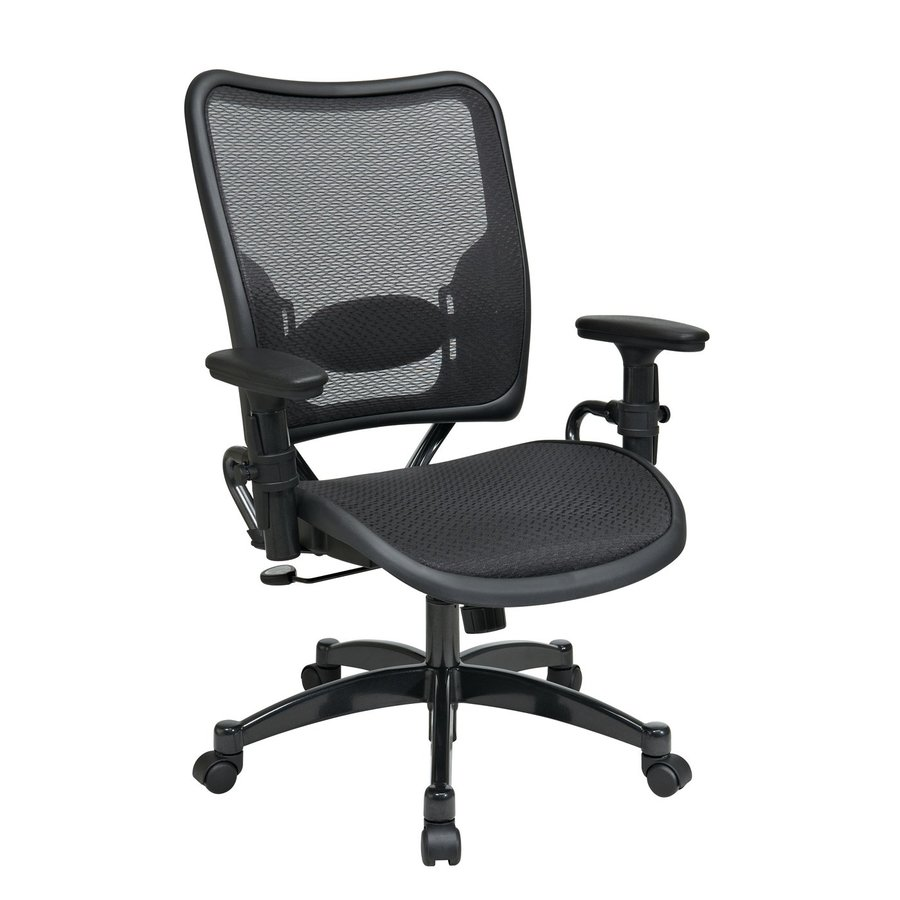 shop office star one space black mesh task office chair at