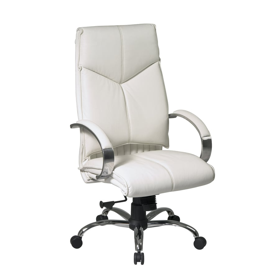 Office Star One Proline II White Leather Executive Office Chair