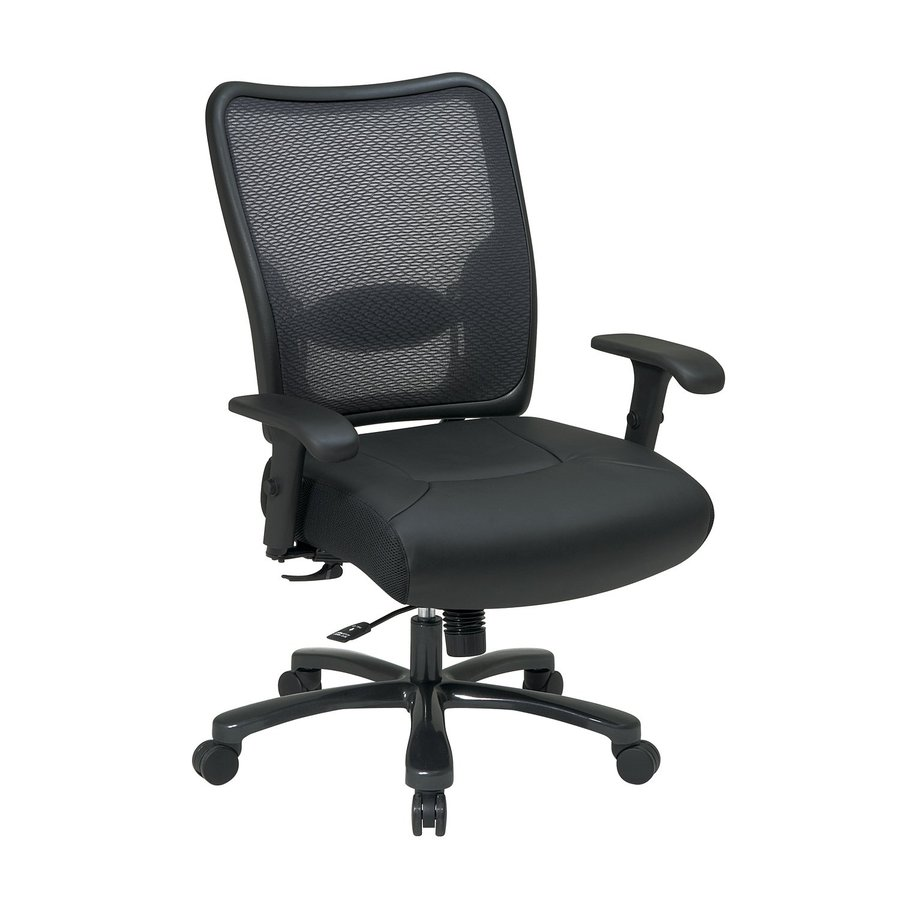 Office Star One Space Black Leather Task Office Chair