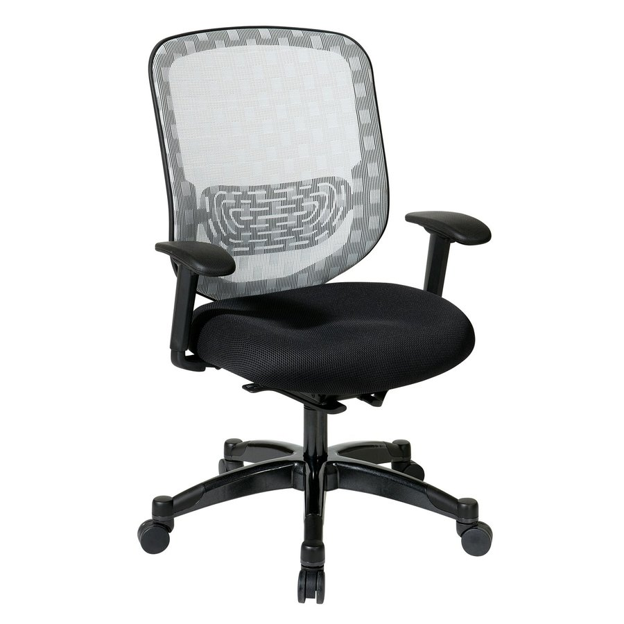 Office Star One Space White/Black Mesh Executive Office Chair