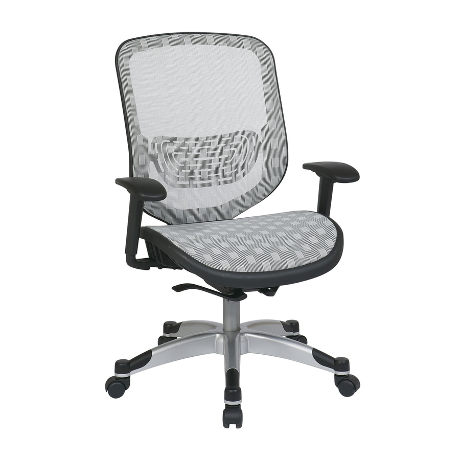 Office Star One Space White Mesh Executive Office Chair