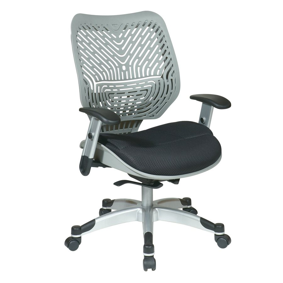 shop office star one space silver black mesh task office chair at