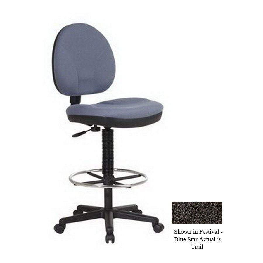 Shop Office Star WorkSmart Black Drafting Office Chair At