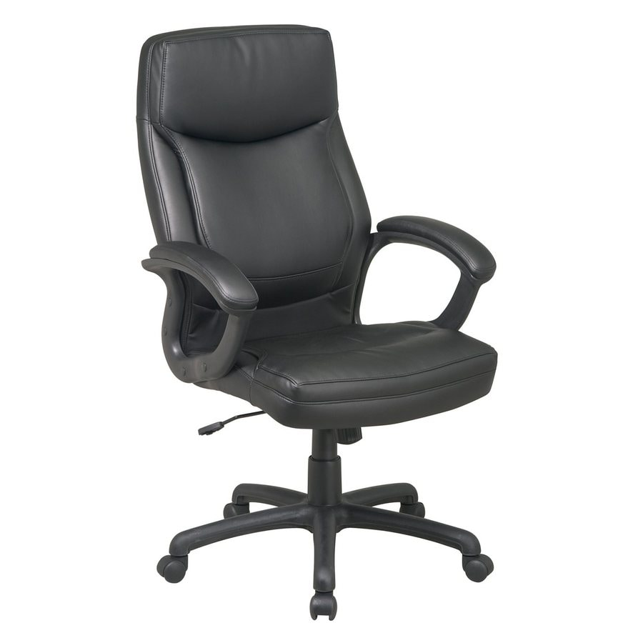 Work Smart Executive Eco-Leather High Back Chair
