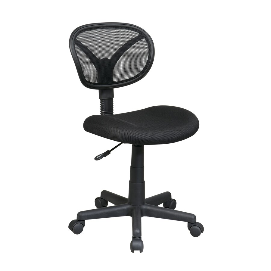 shop office star worksmart black mesh task office chair at