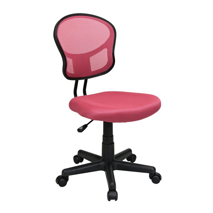 Office Star OSP Designs Pale Pink Mesh Task Office Chair