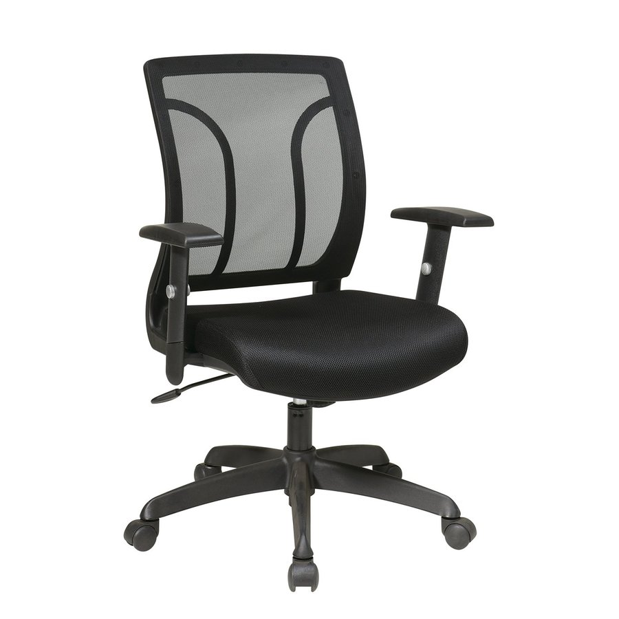 shop office star one worksmart black mesh task office chair at lowes