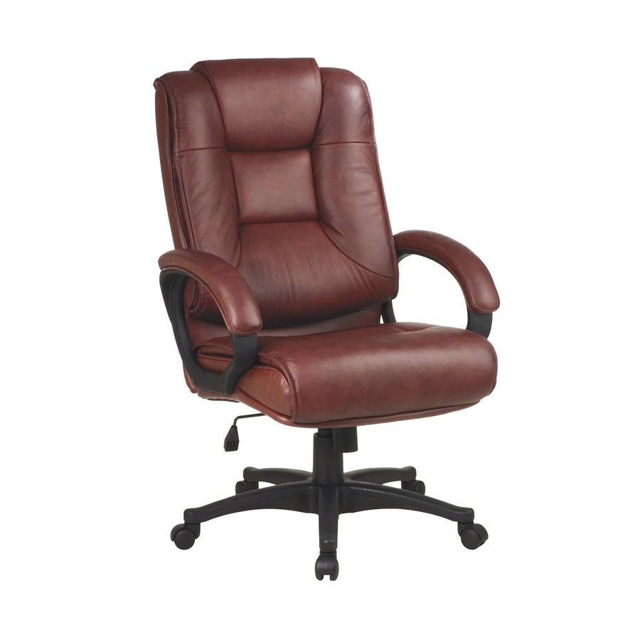 Office Star One WorkSmart Saddle Leather Executive Office Chair