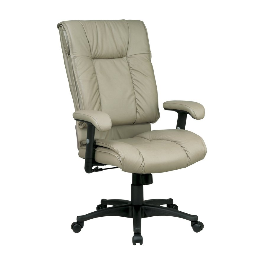 Office Star One WorkSmart Tan Leather Executive Office Chair