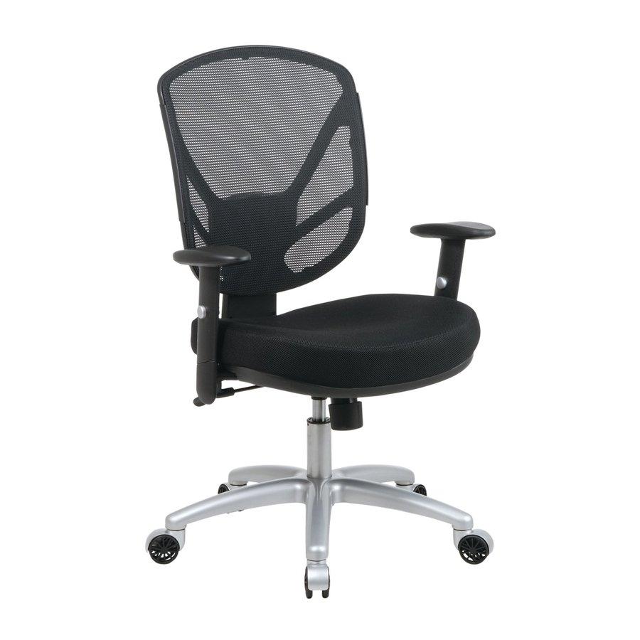 Office Star One WorkSmart Black Mesh Task Office Chair