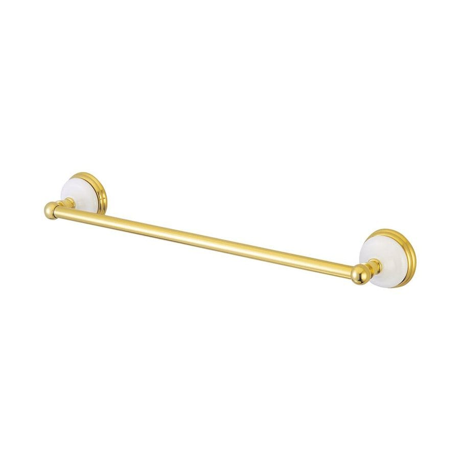 Elements of Design Victorian Polished Brass Single Towel Bar (Common: 24-in; Actual: 26.75-in)