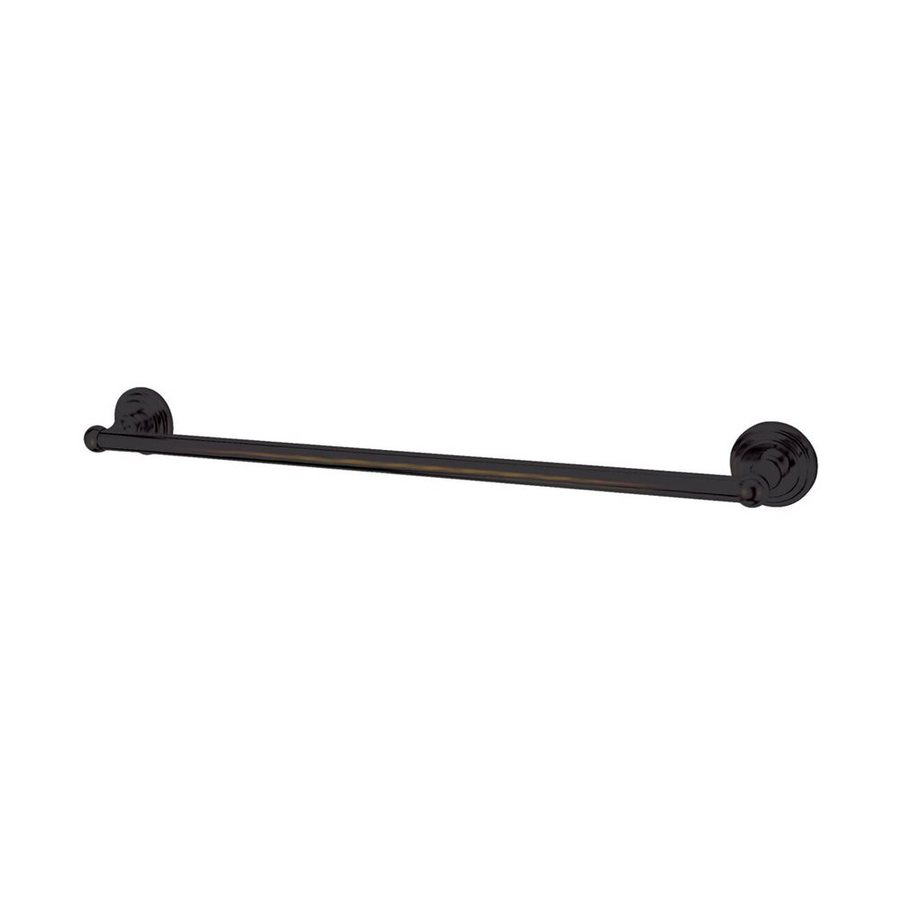 Elements of Design Milano Oil-Rubbed Bronze Single Towel Bar (Common: 24-in; Actual: 26.63-in)