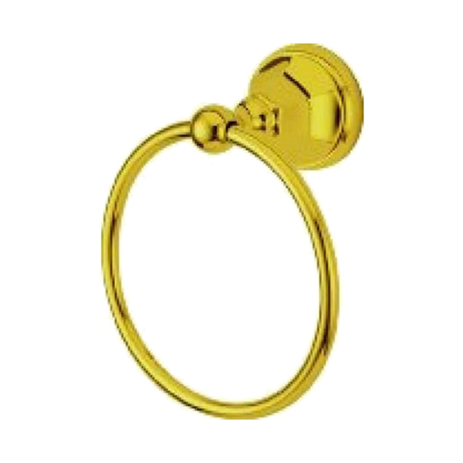 Elements of Design Metropolitan Polished Brass Wall-Mount Towel Ring