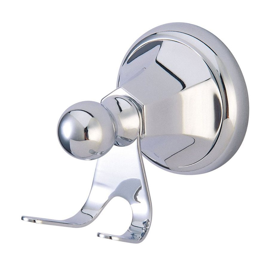Elements of Design Metropolitan 2-Hook Polished Chrome Robe Hook