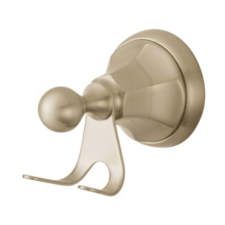 Elements of Design Metropolitan 2-Hook Satin Nickel Robe Hook