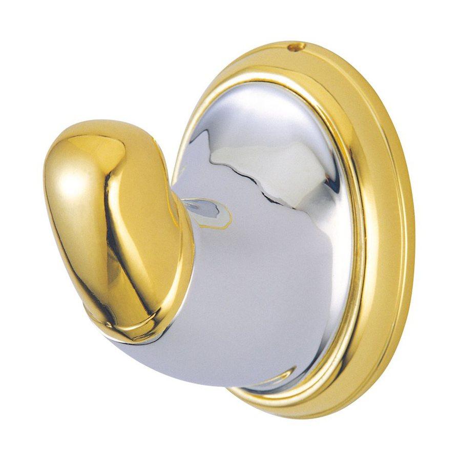 Elements of Design Magellan 1-Hook Polished Chrome/Polished Brass Robe Hook