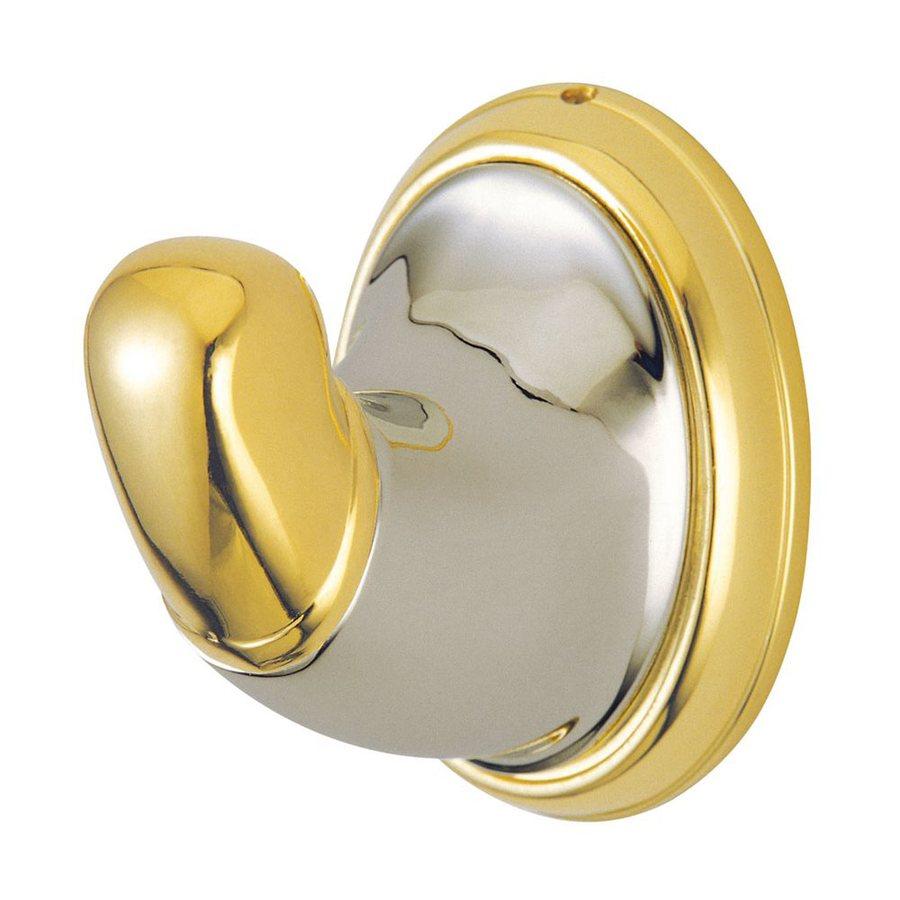 Elements of Design Magellan 1-Hook Satin Nickel/Polished Brass Robe Hook