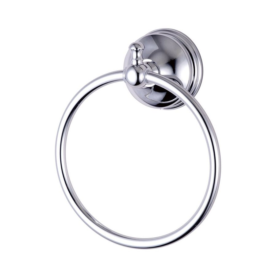 Elements of Design Naples Polished Chrome Wall-Mount Towel Ring