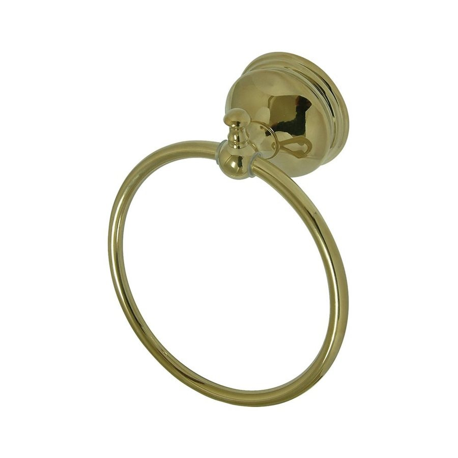 Elements of Design Naples Polished Brass Wall-Mount Towel Ring