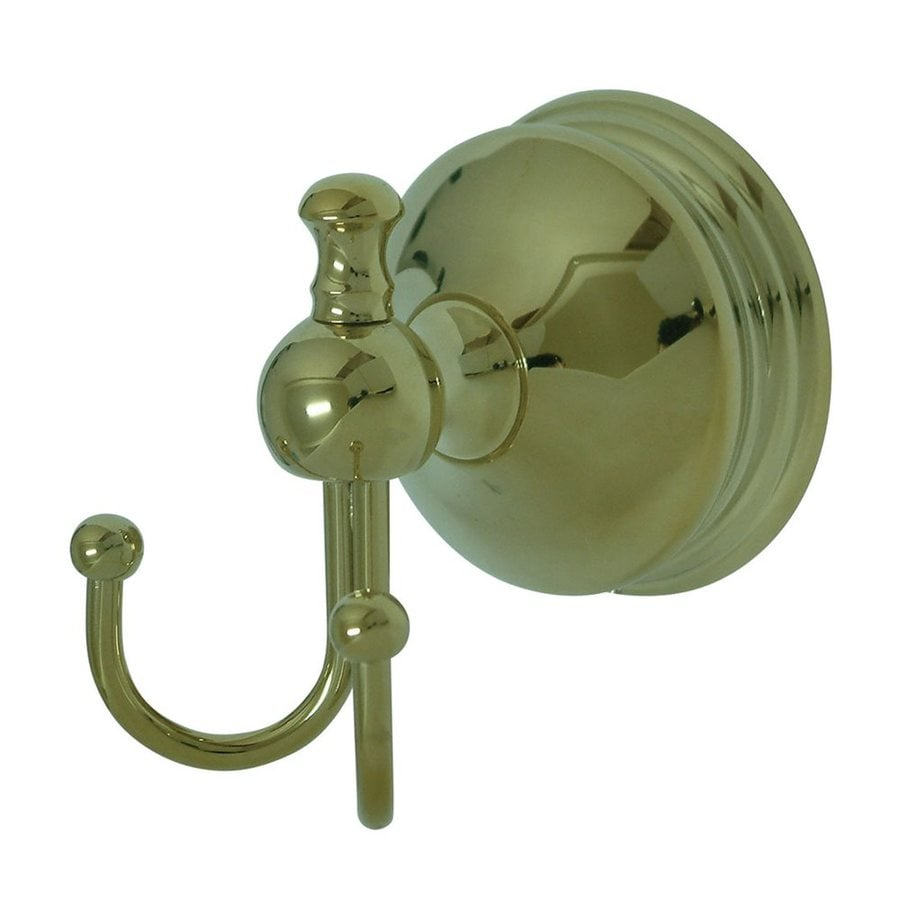 Elements of Design Naples 2-Hook Polished Brass Robe Hook
