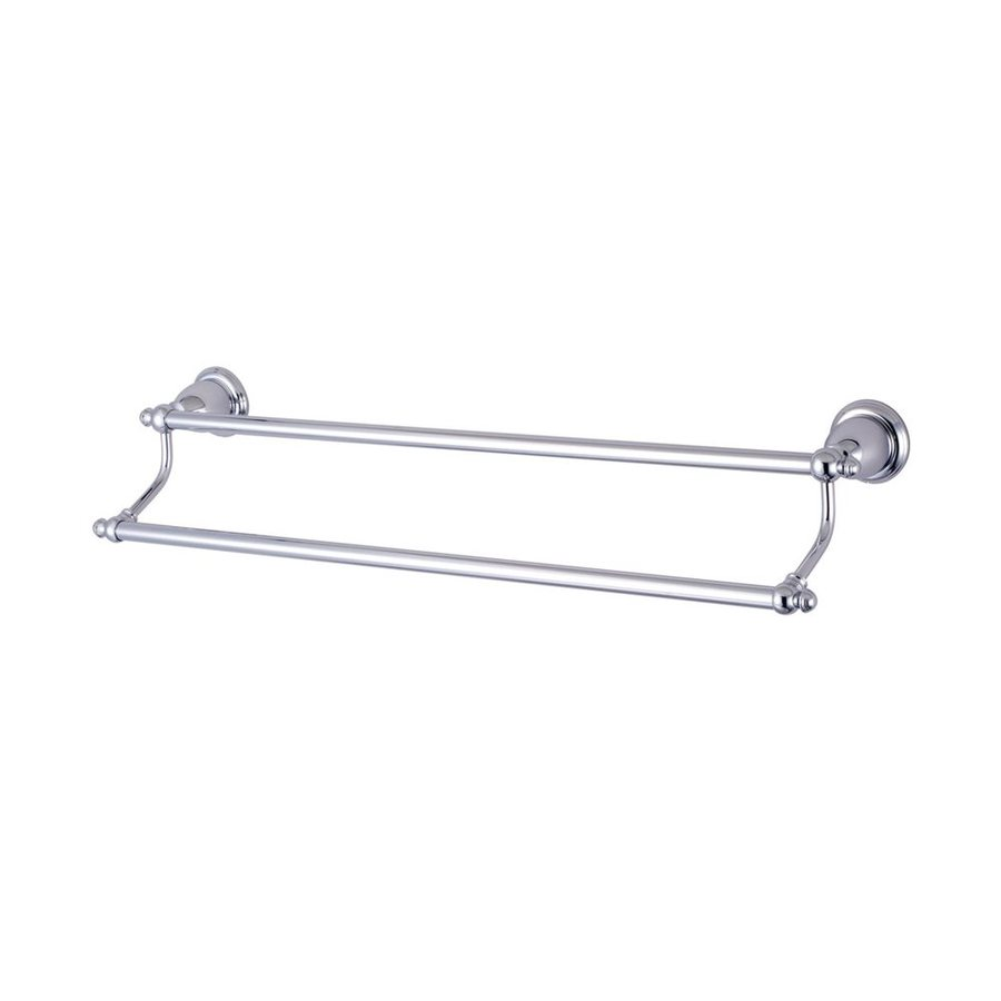 Elements of Design English Vintage Chrome Double Towel Bar (Common: 24-in; Actual: 26.5-in)
