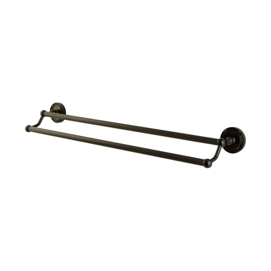 Elements of Design Georgian Oil-Rubbed Bronze Double Towel Bar (Common: 24-in; Actual: 26.5-in)