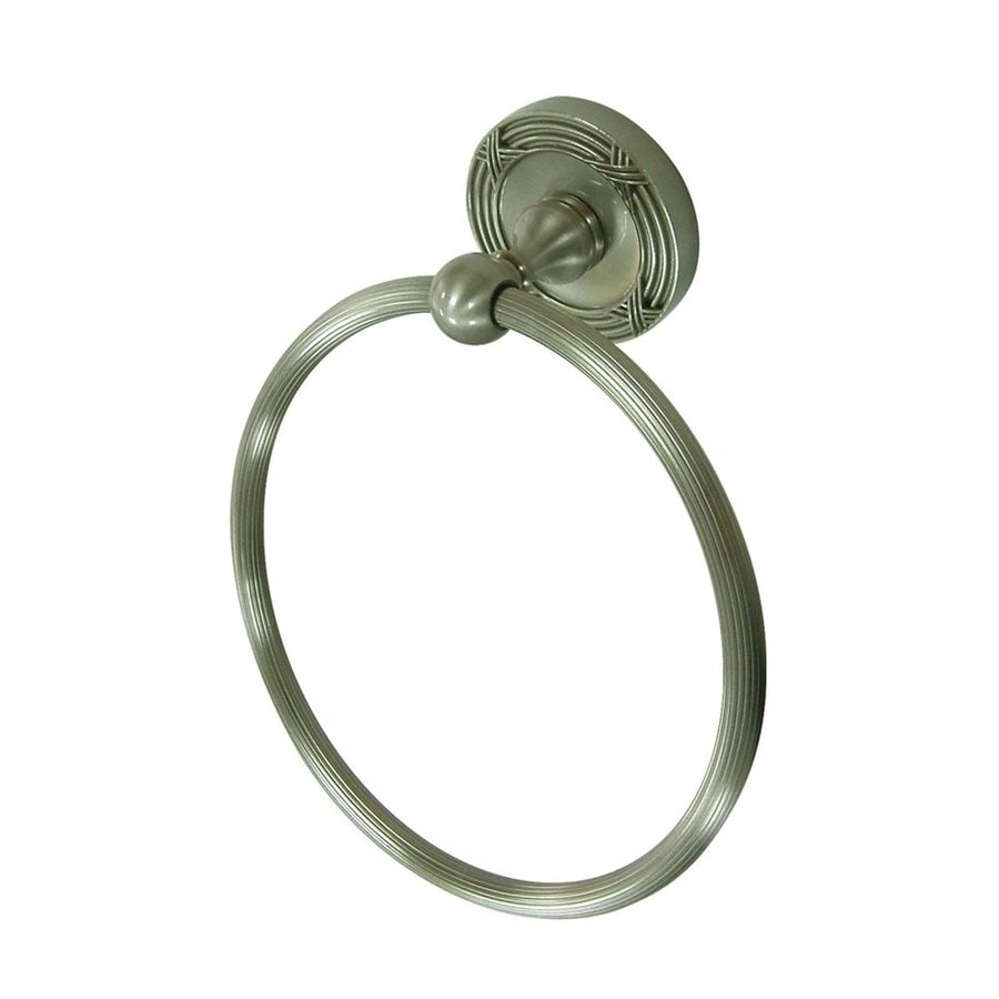 Elements of Design Georgian Satin Nickel Wall-Mount Towel Ring