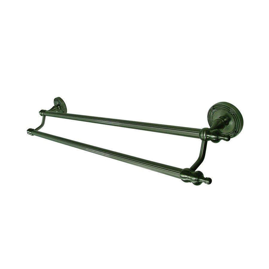 Elements of Design Templeton Satin Nickel Double Towel Bar (Common: 24-in; Actual: 27-in)